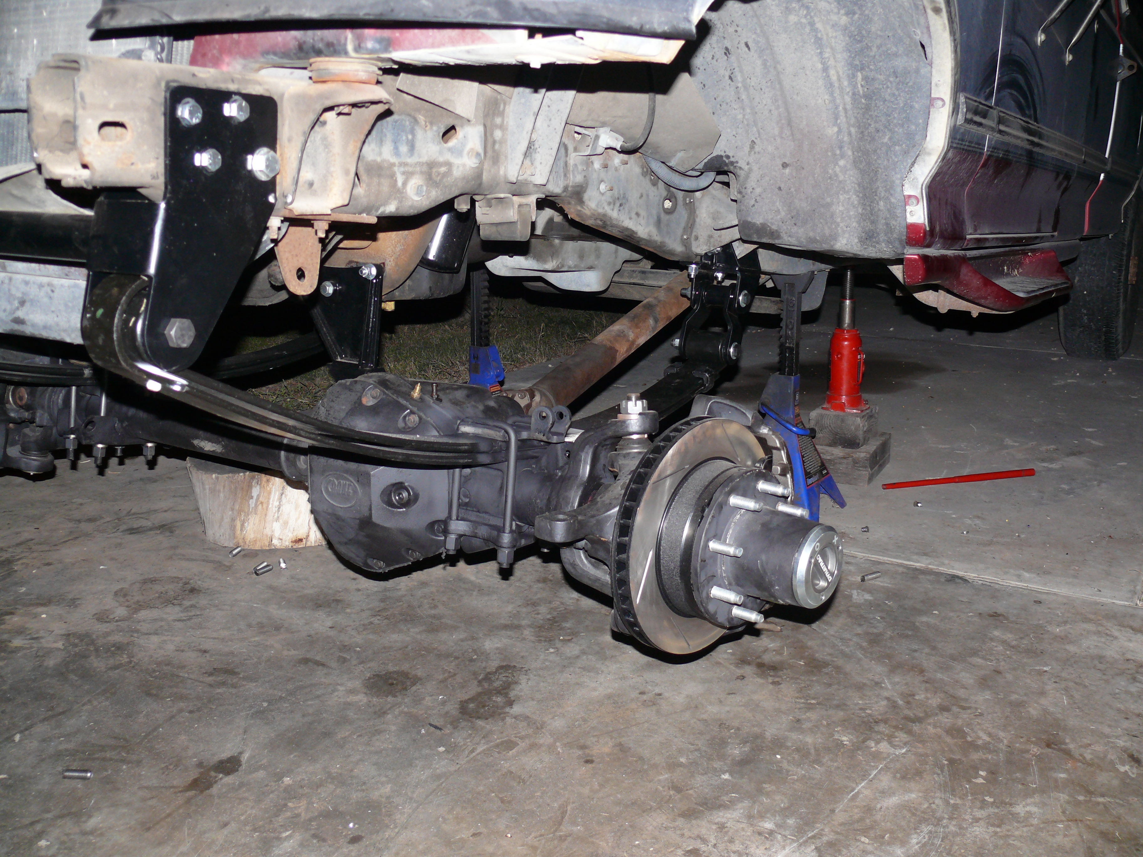 Jeep Yj Lift Springs home brew junkyard shackle reverse for 97 f350? - Ford Powerstroke ...