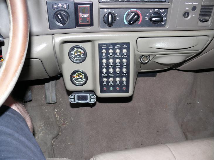 Ford Powerstroke Diesel Forum - F650 dash mod customization